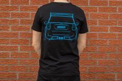 Lohen MINI T-Shirt Black and Blue - 100% Organic Cotton